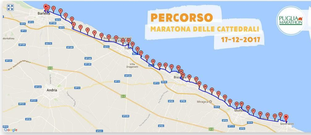 Marathon of the Cathedrals Mappa del percorso