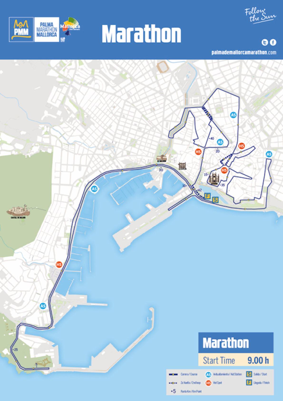 Zafiro Palma Marathon Route Map