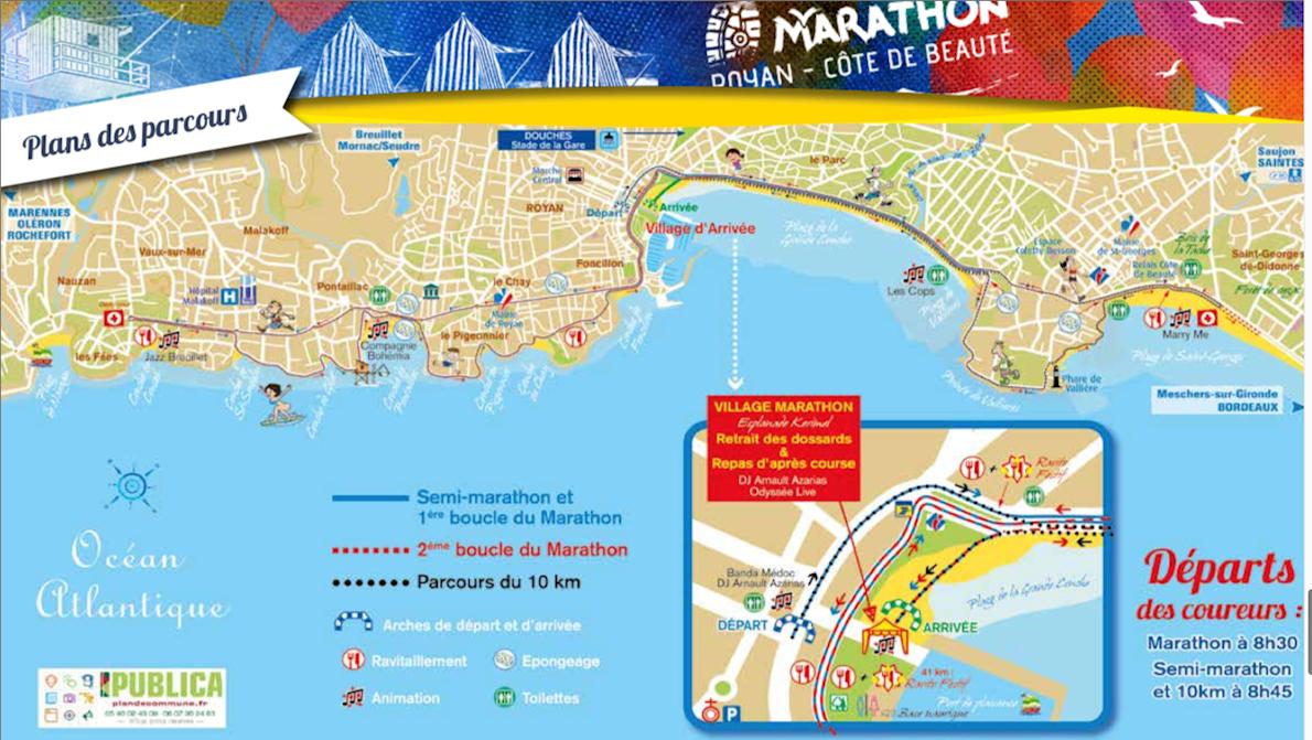 Marathon Royan-Côte de Beauté Route Map