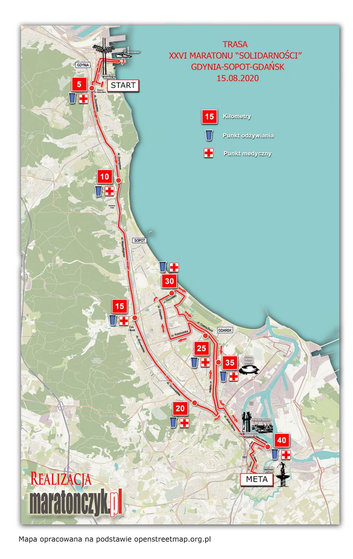 Solidarity Marathon Gdansk 路线图