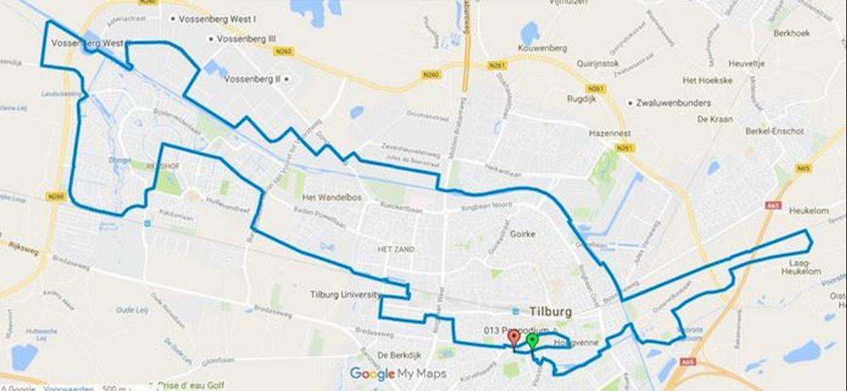 Marathon Tilburg Routenkarte