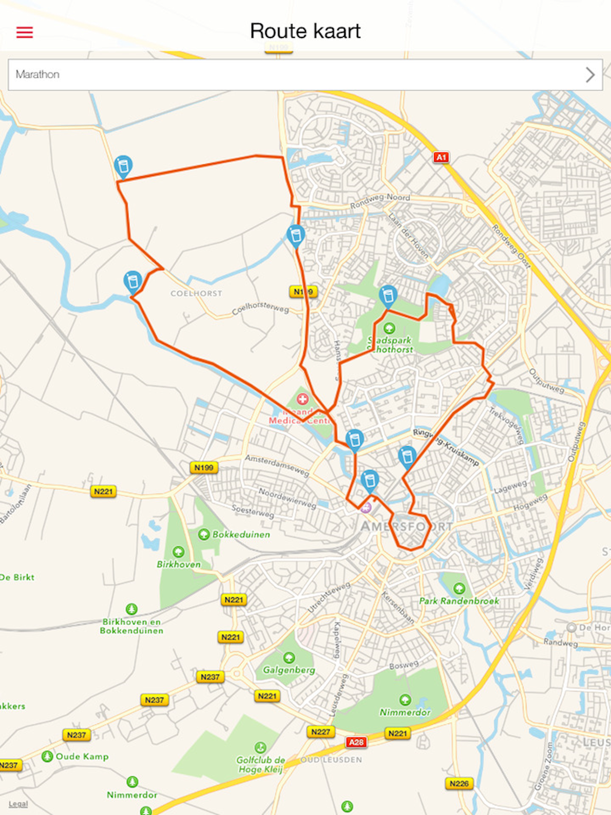 MARATHON Amersfoort  Route Map