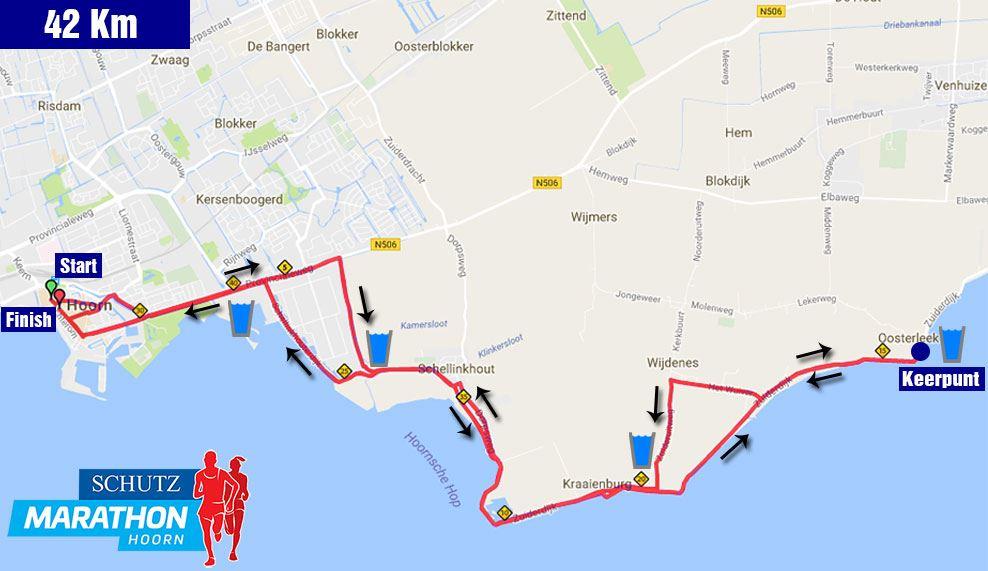 Schutz Marathon Hoorn 路线图