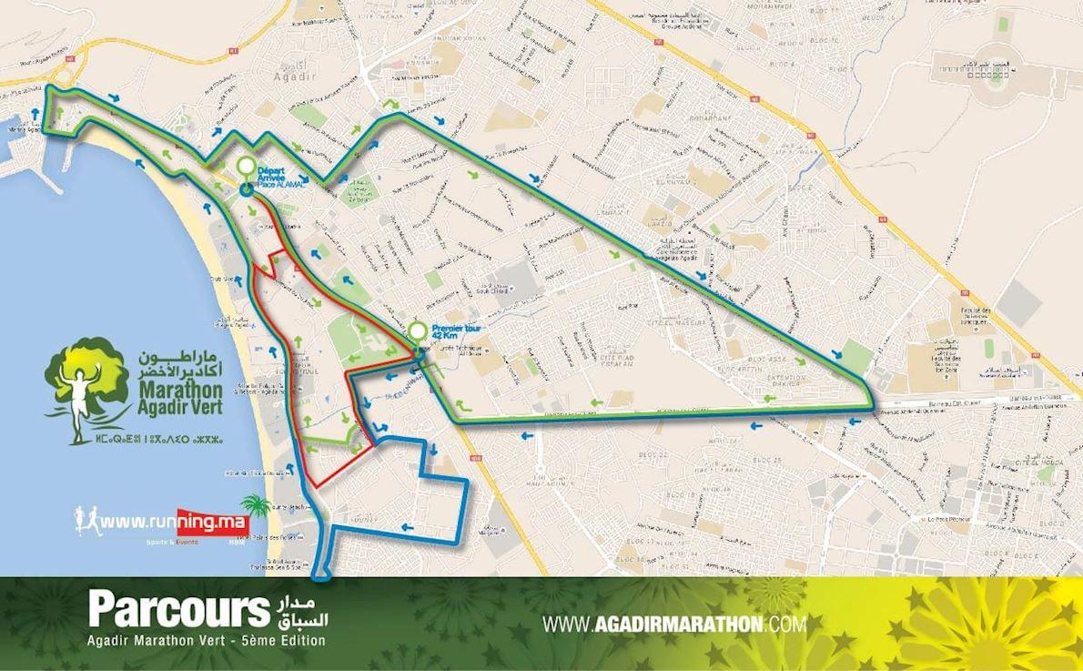 Marathon Vert D'Agadir Mappa del percorso