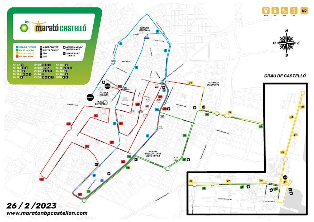 MARATON BP CASTELLON Route Map