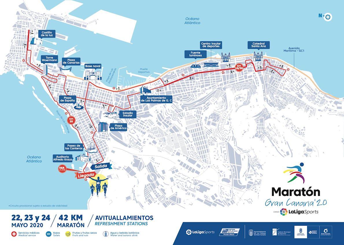 Maratón Gran Canaria '20 LaLigaSports Route Map