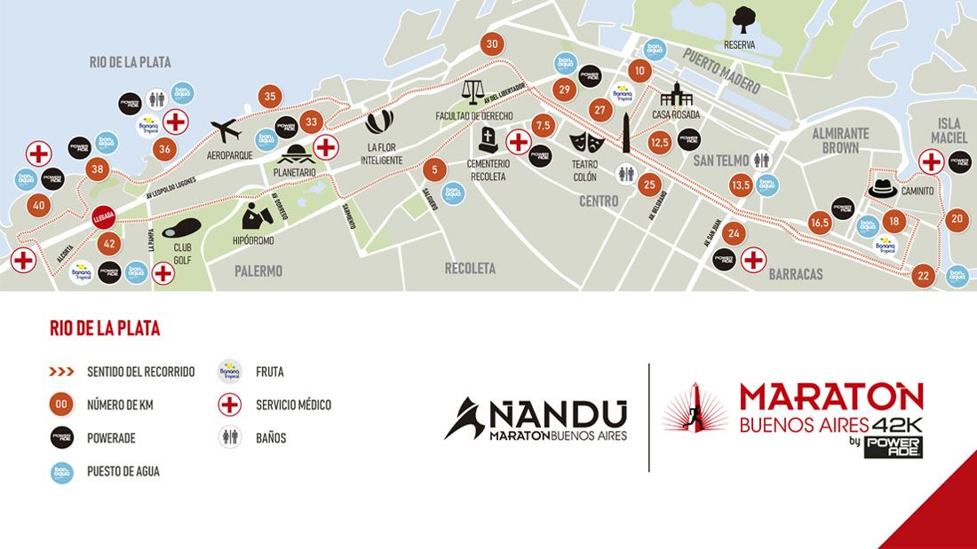 Maratón Internacional De La Ciudad De Buenos Aires Route Map