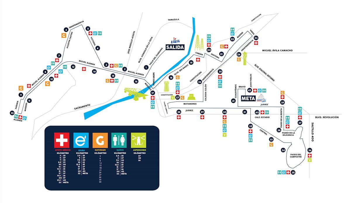 Maratón Internacional Lala Mappa del percorso