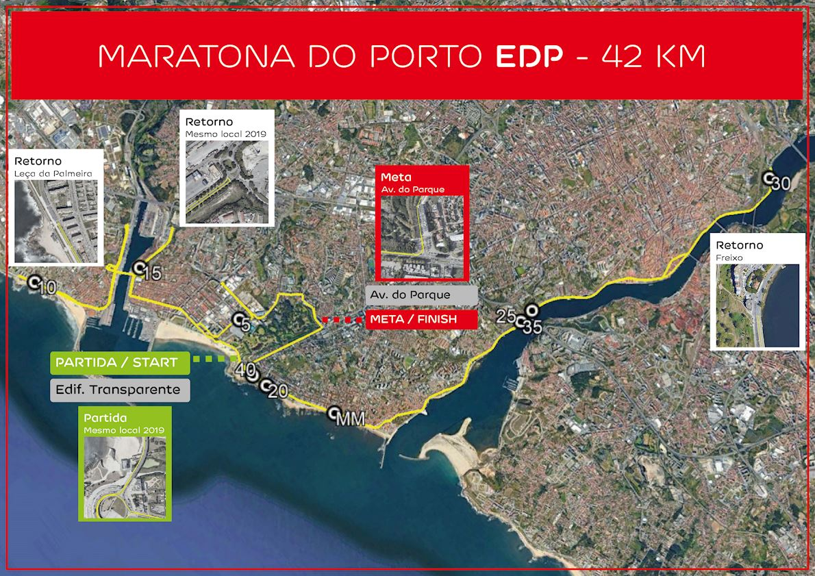 EDP Porto Marathon Route Map