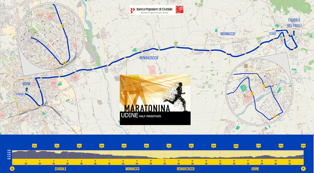 Udine Half Marathon Sep Worlds Marathons - Udine map