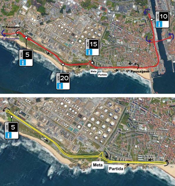 Matosinhos Half Marathon Route Map