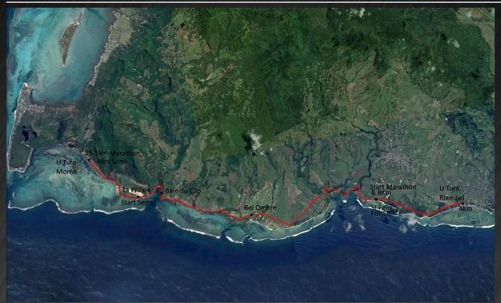KFC Mauritius Marathon: Marathon de I'lle Maurice Mappa del percorso