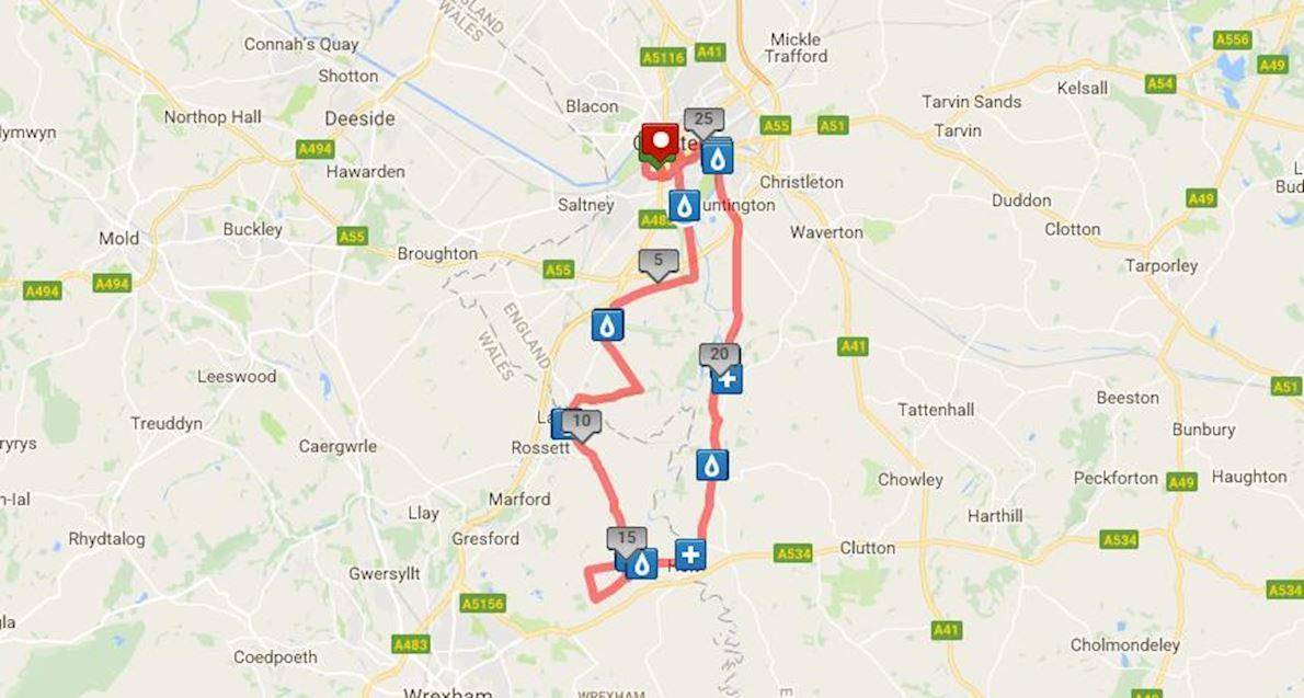 MBNA Chester Marathon Mappa del percorso