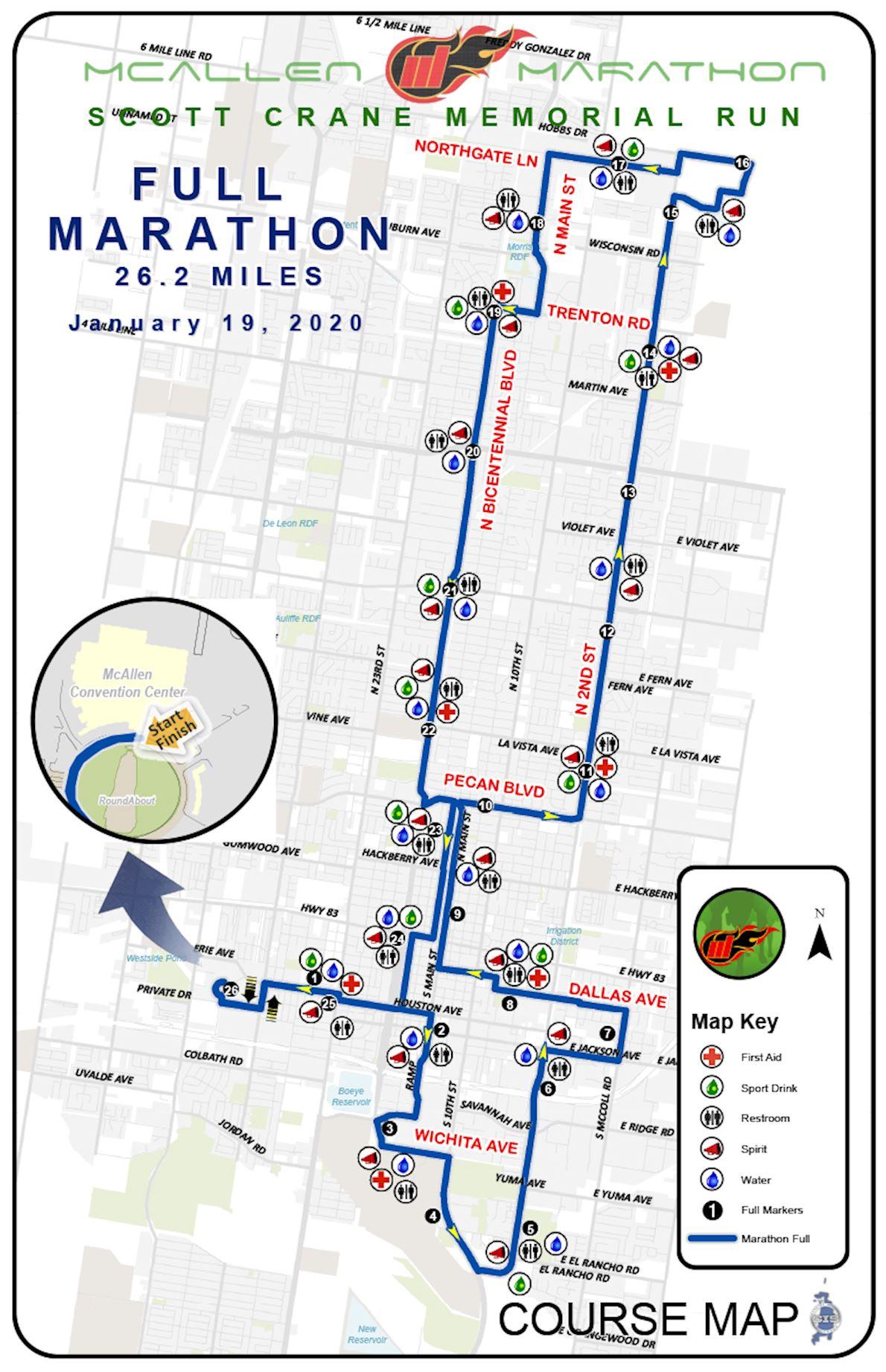 McAllen Marathon Route Map