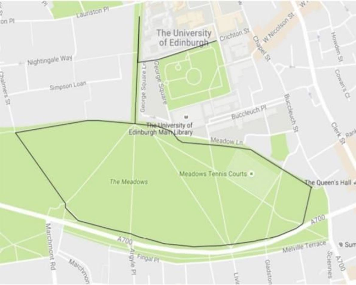 Meadows Marathon Route Map