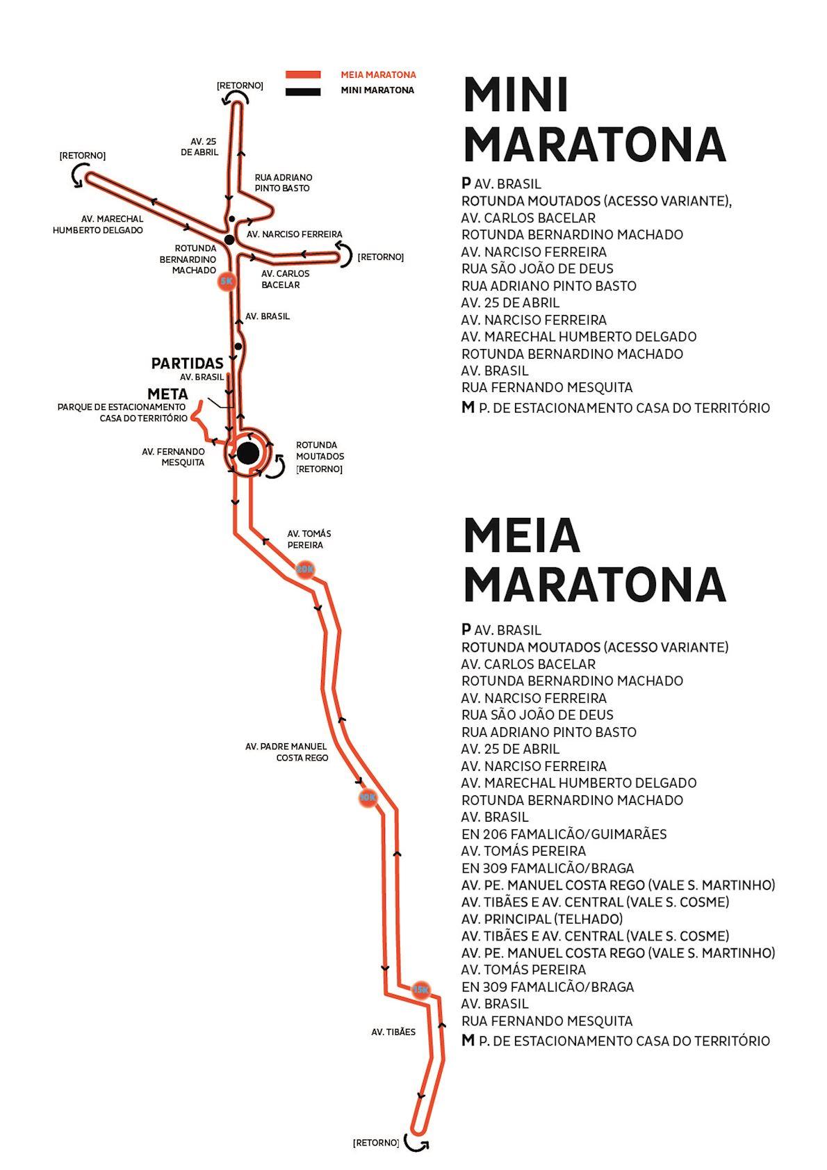 Meia Maratona de Famalicão 路线图