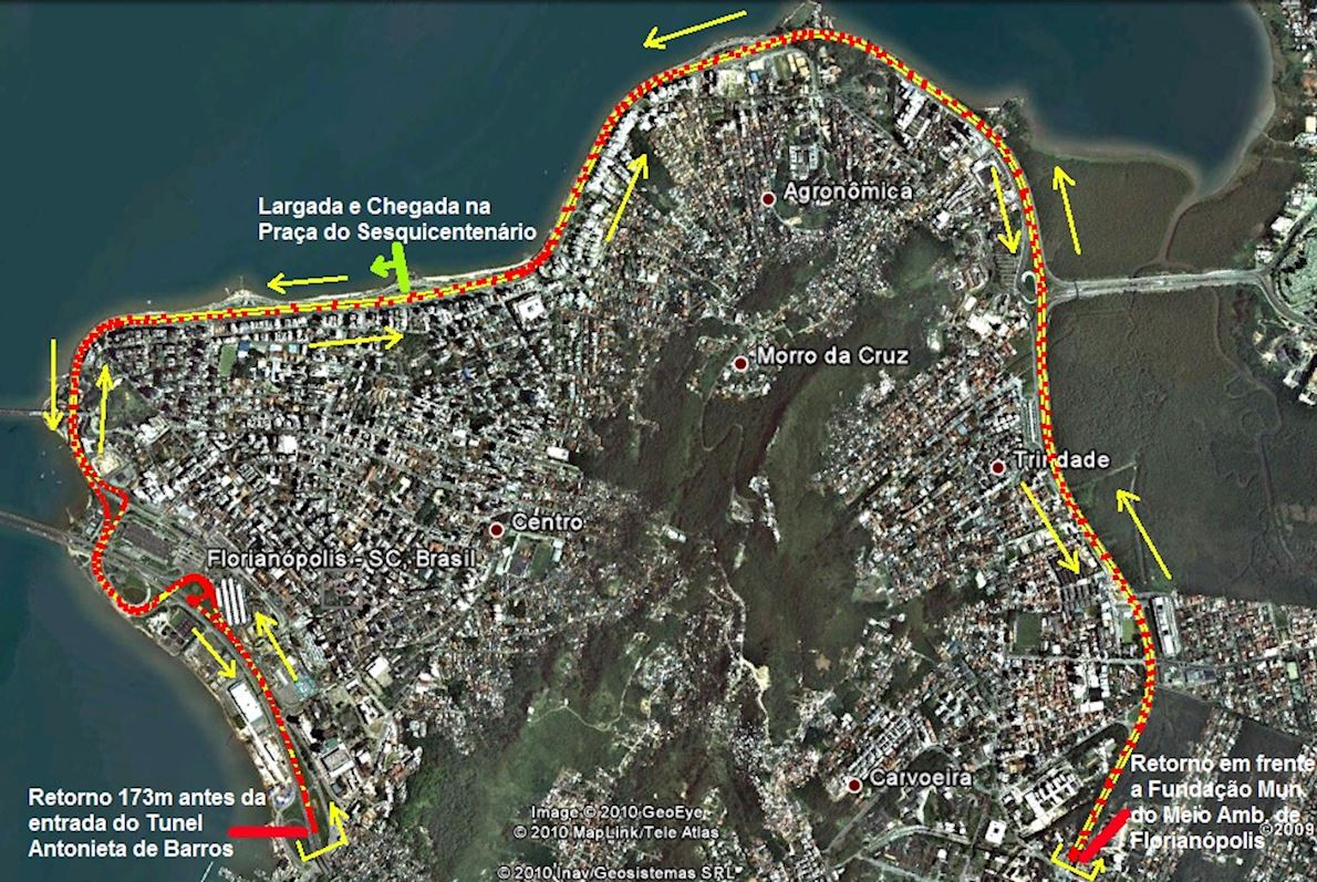 Meia Maratona Internacional de Florianópolis MAPA DEL RECORRIDO DE