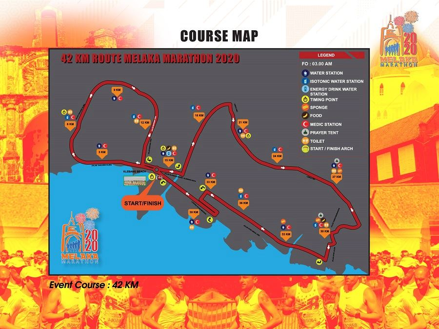 Melaka Marathon MAPA DEL RECORRIDO DE