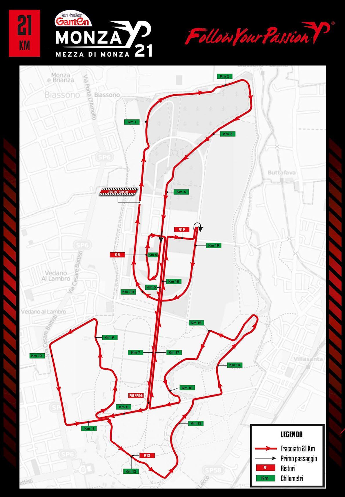 Mezza Di Monza Route Map
