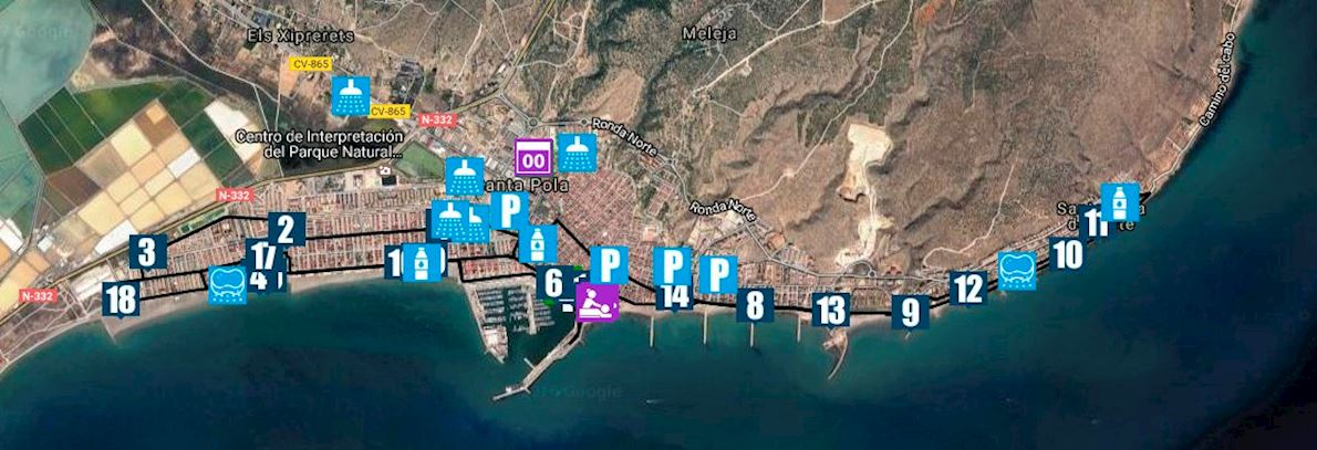 Medio Maratón Internacional Villa de Santa Pola Routenkarte