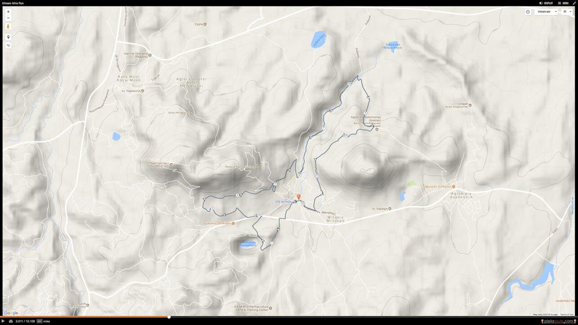 Mitsero Mine Run 路线图