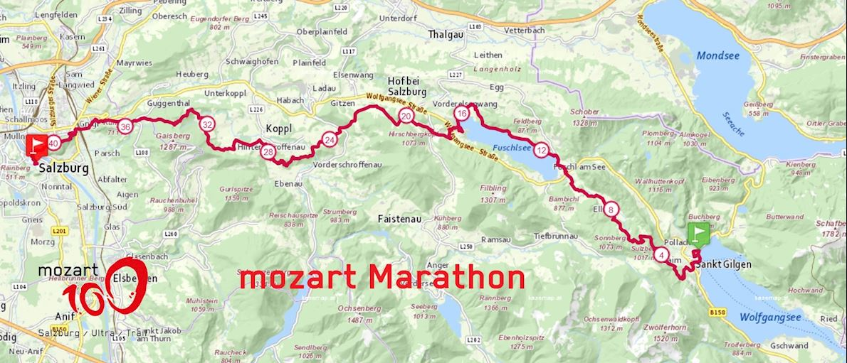Mozart Marathon  Route Map