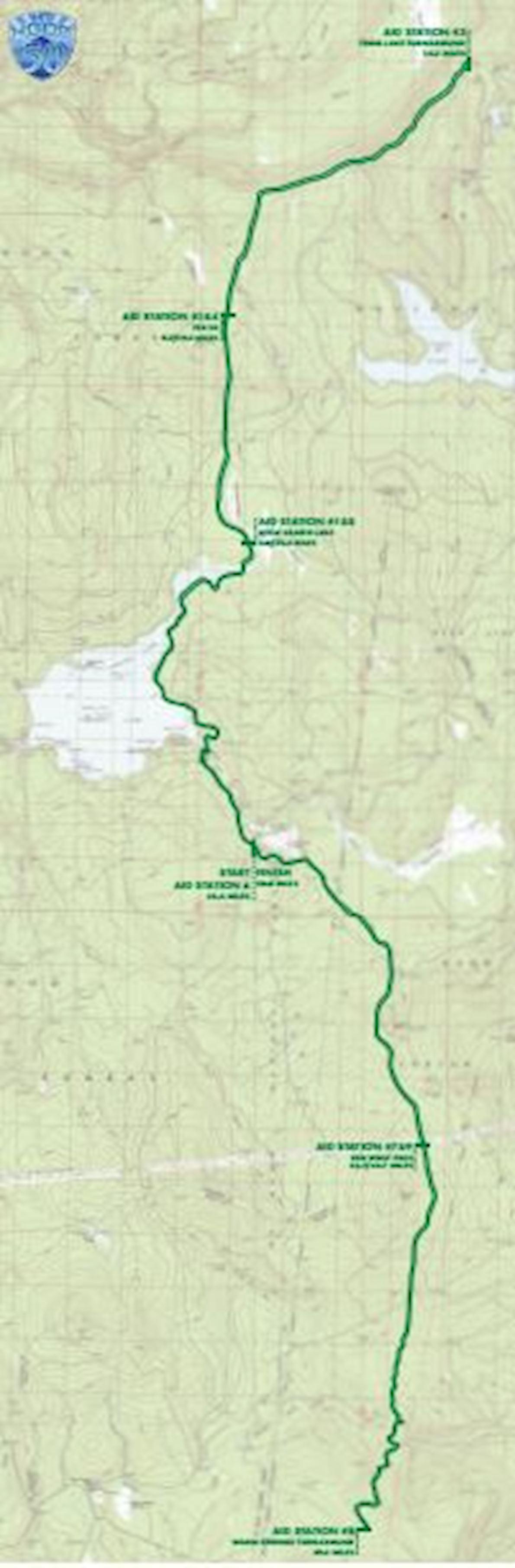 Mt. Hood 50 MAPA DEL RECORRIDO DE
