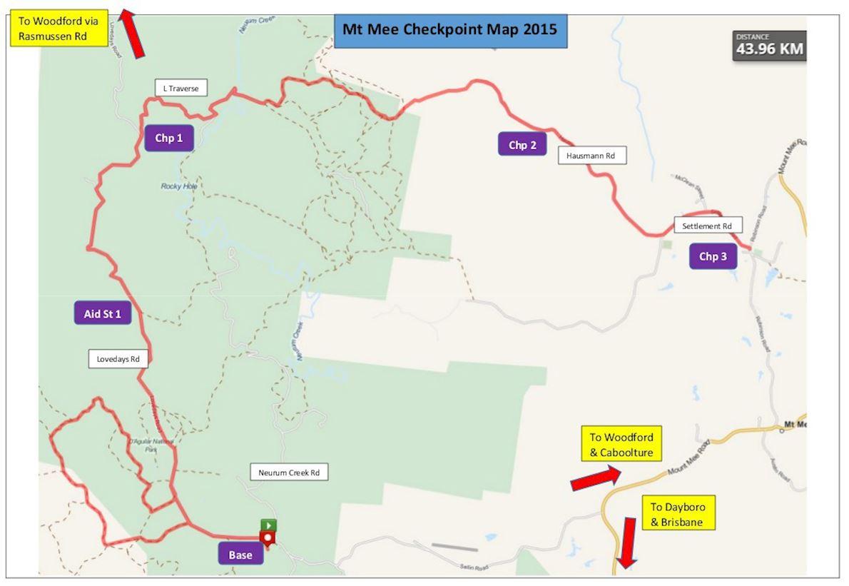 Mt Mee Classic Trail Marathon 路线图