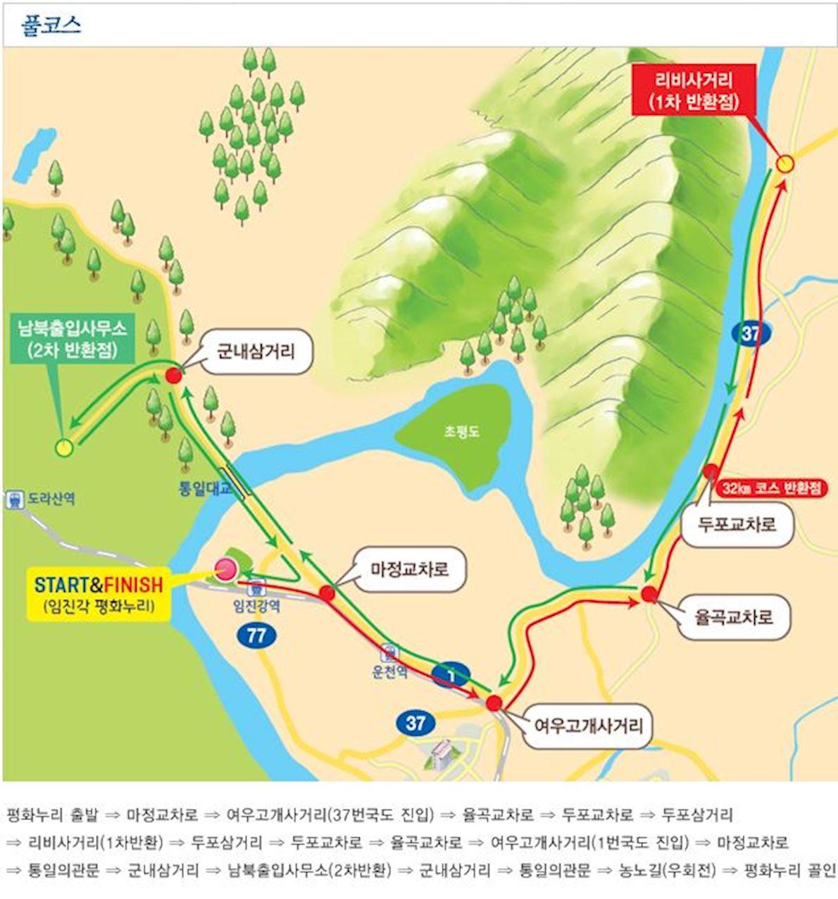 Munhwa Marathon Mappa del percorso
