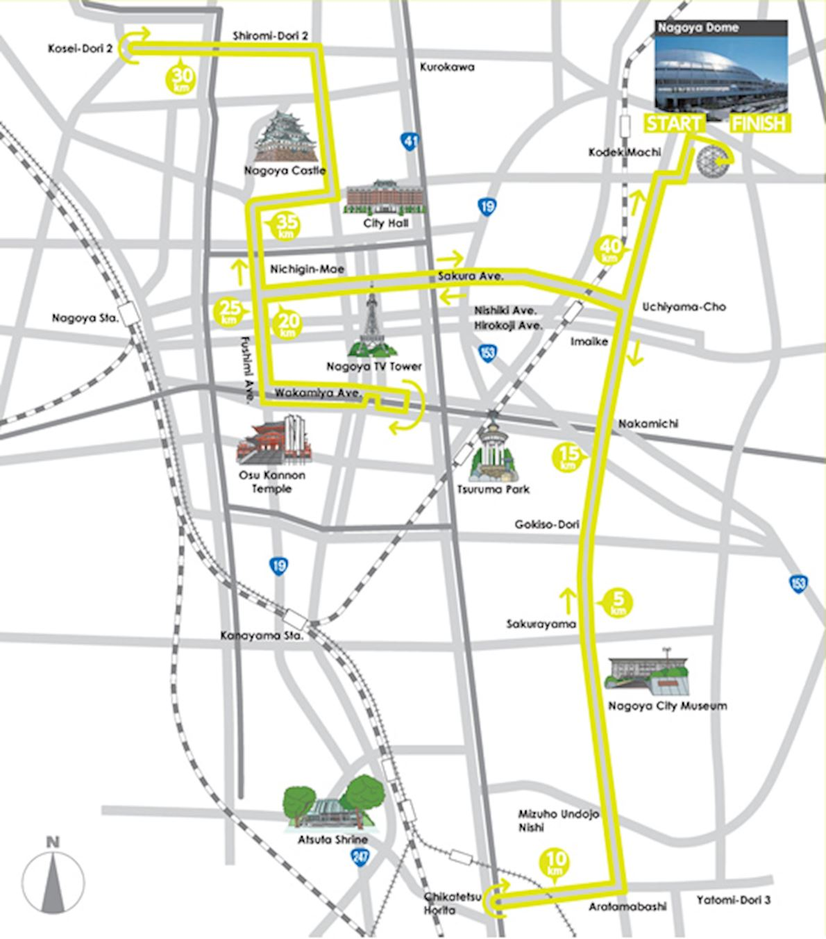 Nagoya Women's Marathon Route Map