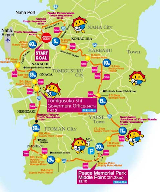 Naha Marathon 路线图