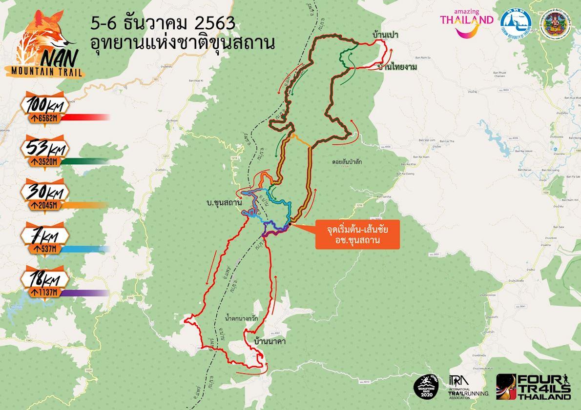 Nan Mountain Trail Route Map