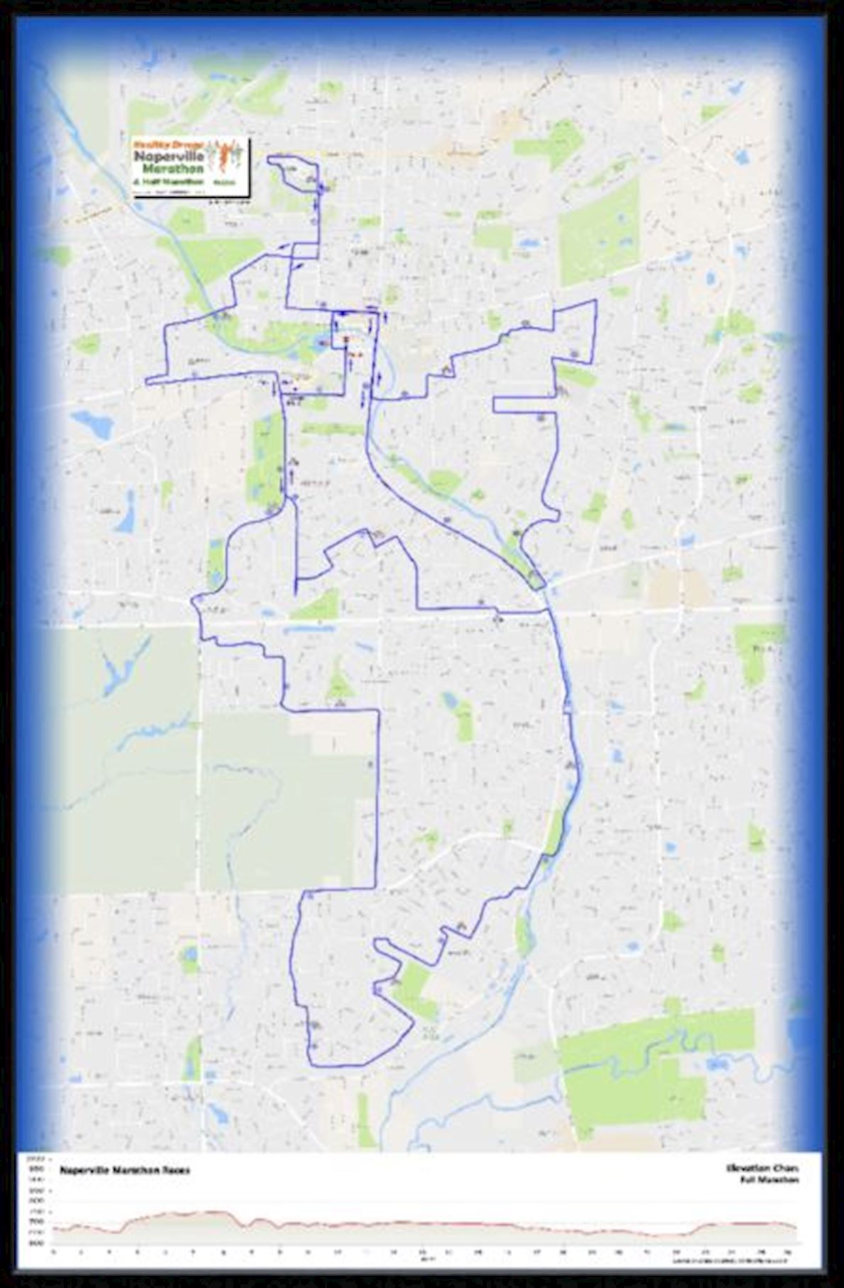 Healthy Driven Naperville Half Marathon & 5K Route Map