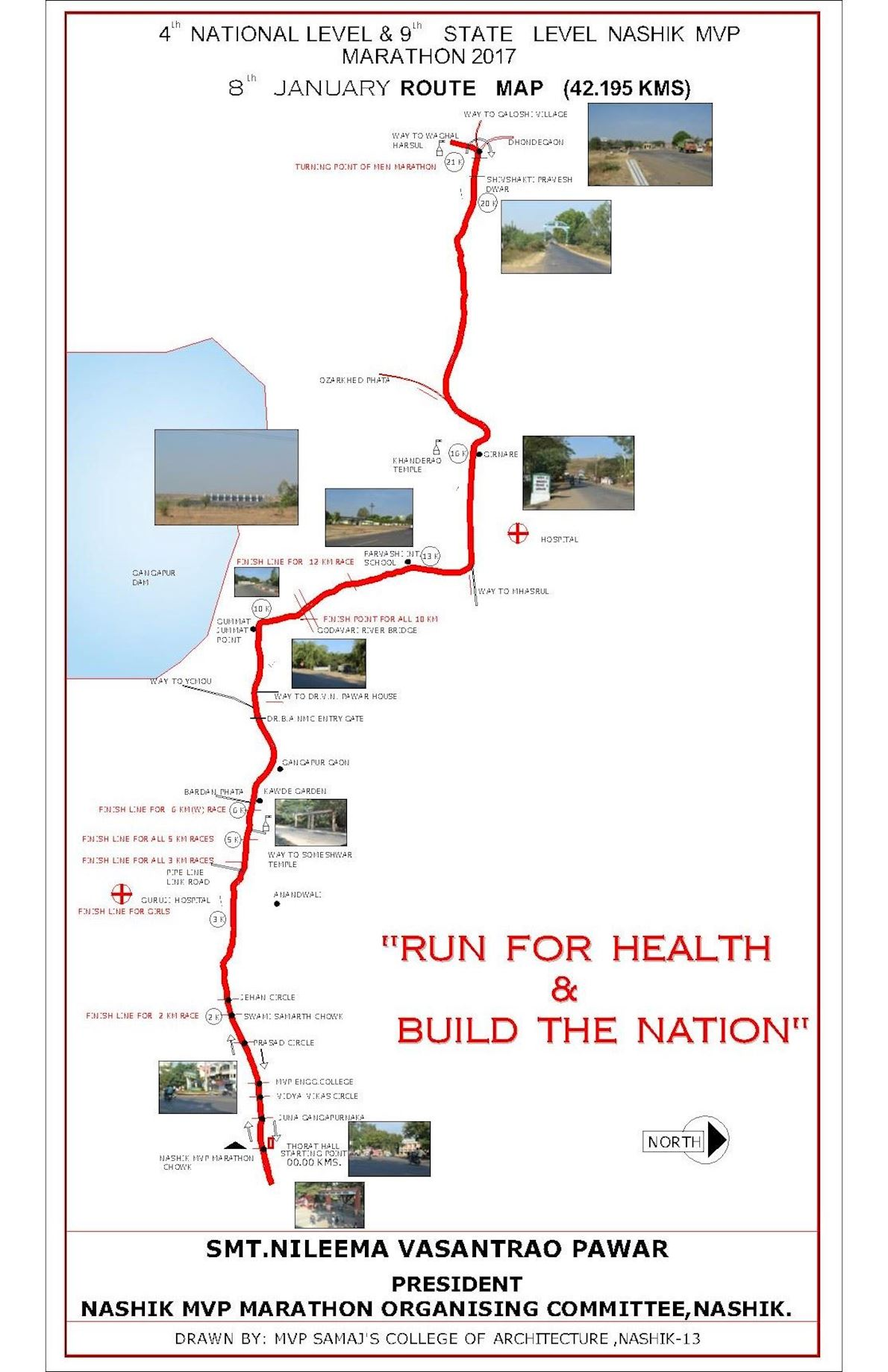 Nashik MVP Run Route Map