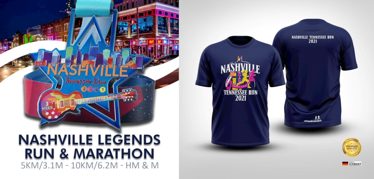 nashville legends virtual run and marathon
