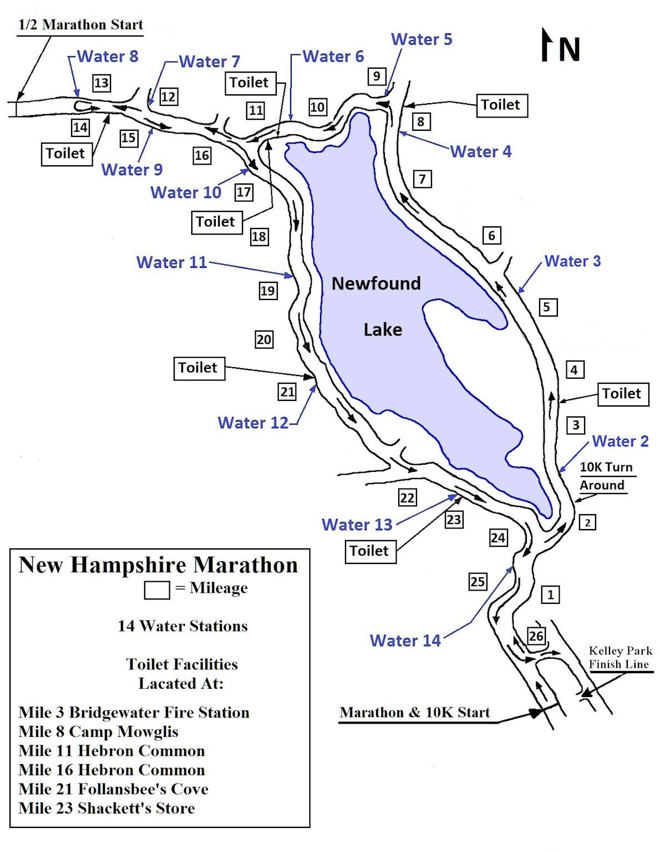 New Hampshire Marathon Route Map