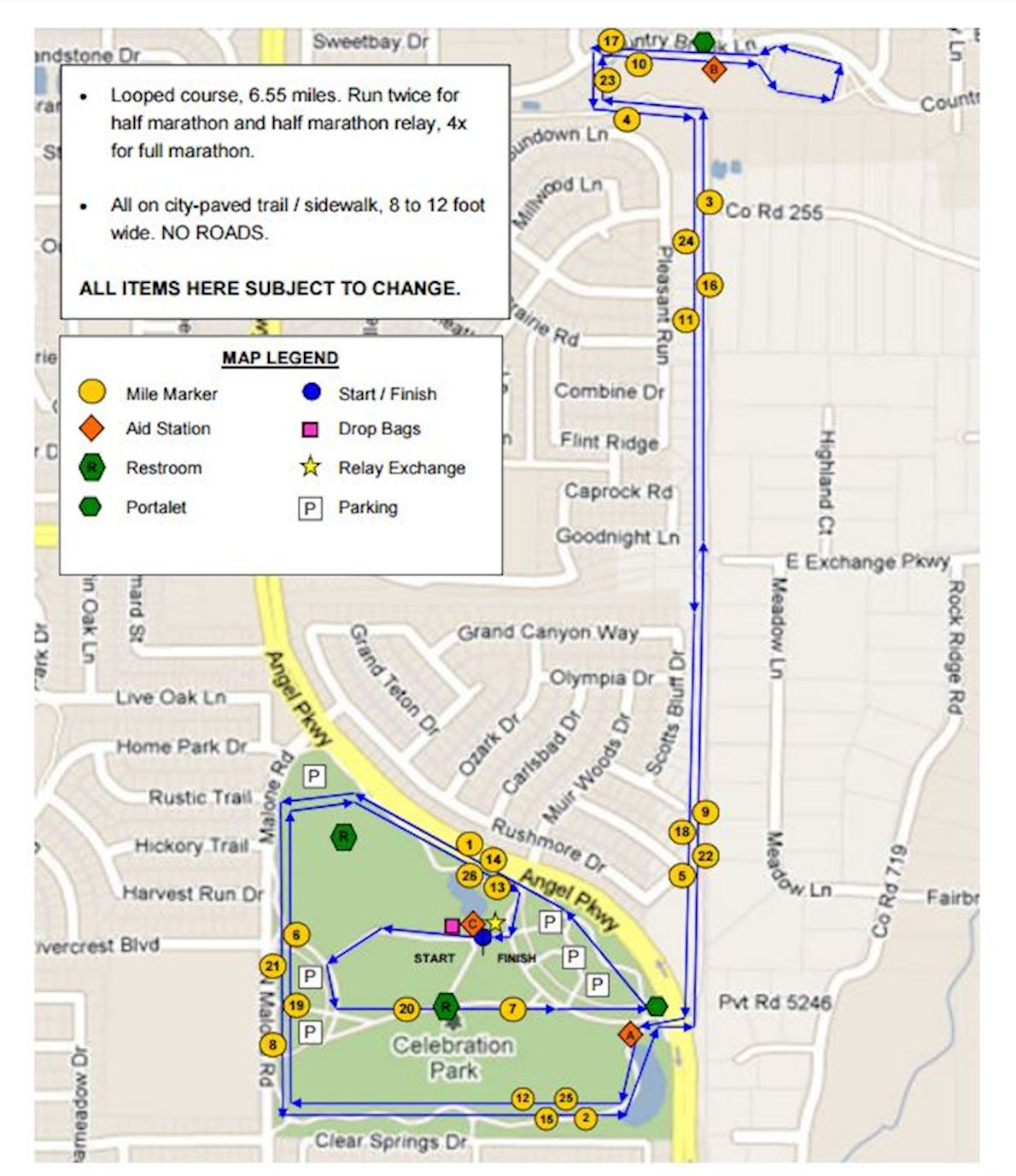 New Year's Double Marathon Route Map