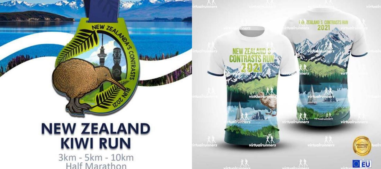 new zealand contrast virtual run marathon