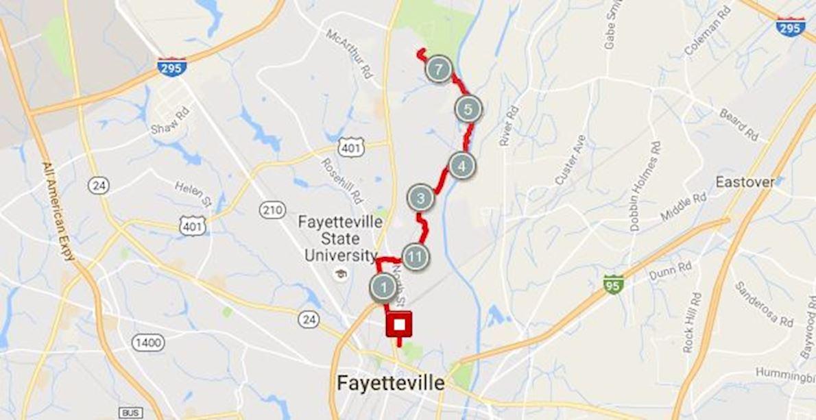 North Carolina Halloween Half Marathon & 5K 路线图