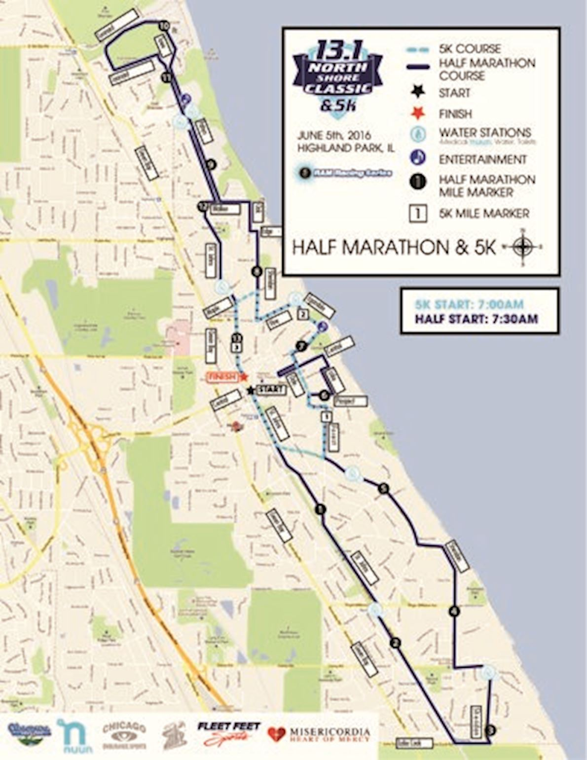 North Shore Classic Mappa del percorso
