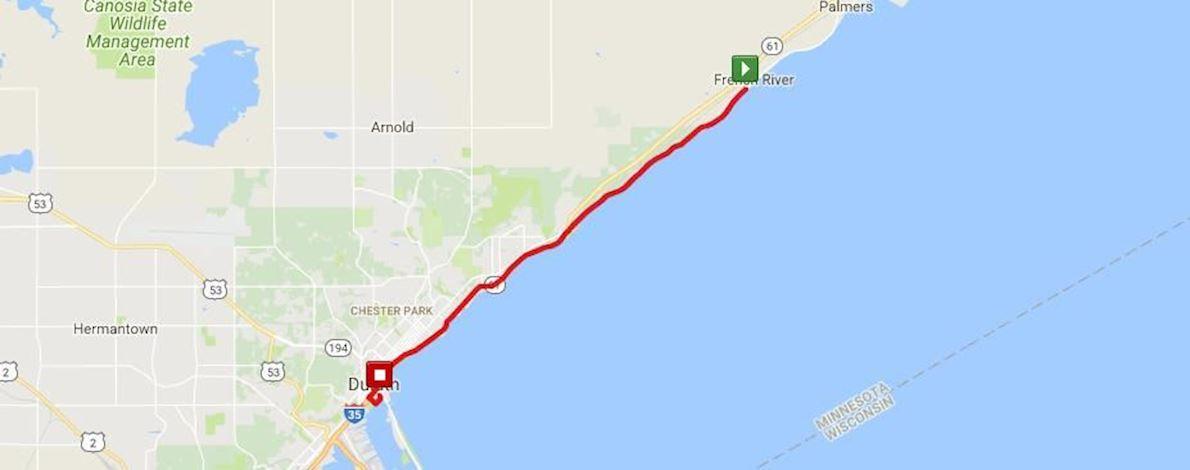 North Shore Run 路线图