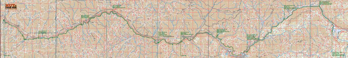 NUT 100K & 50K Mappa del percorso