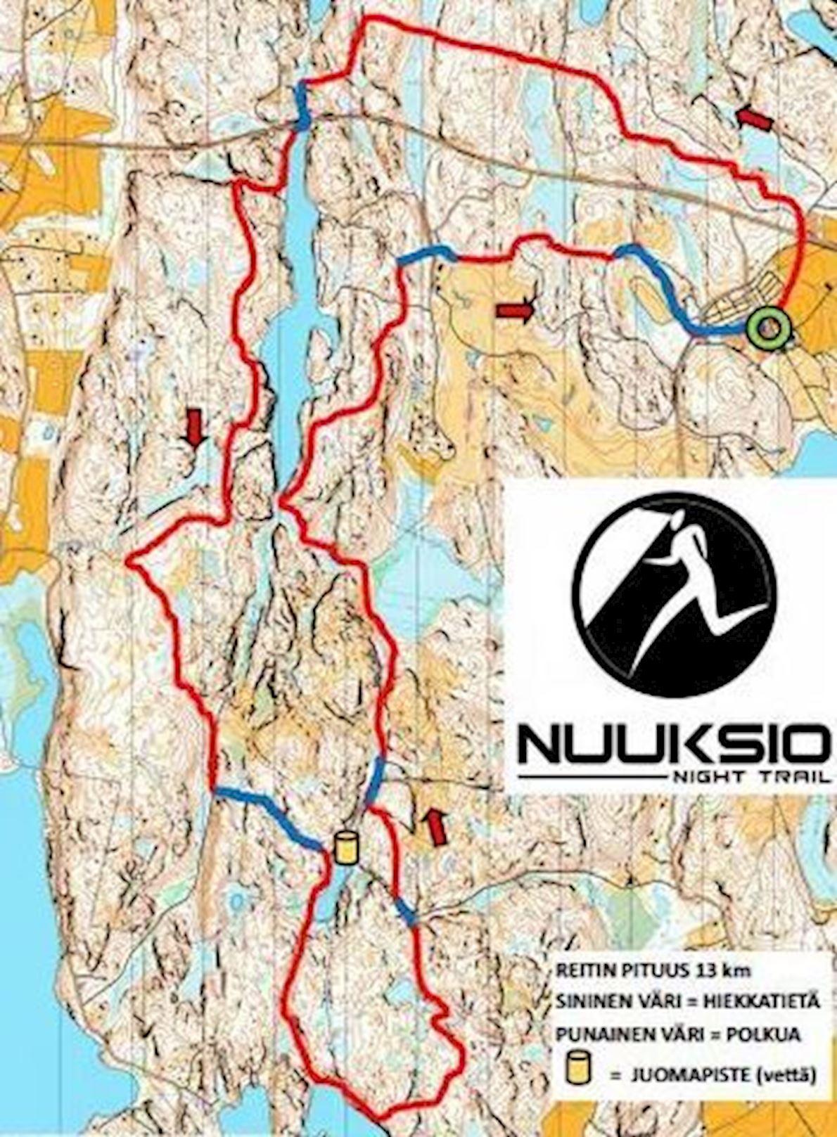 Nuuksio Night Trail ITINERAIRE
