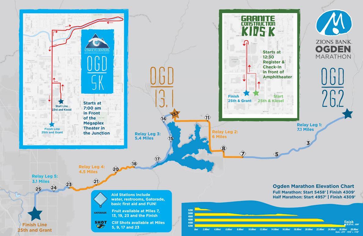 Ogden Marathon Route Map