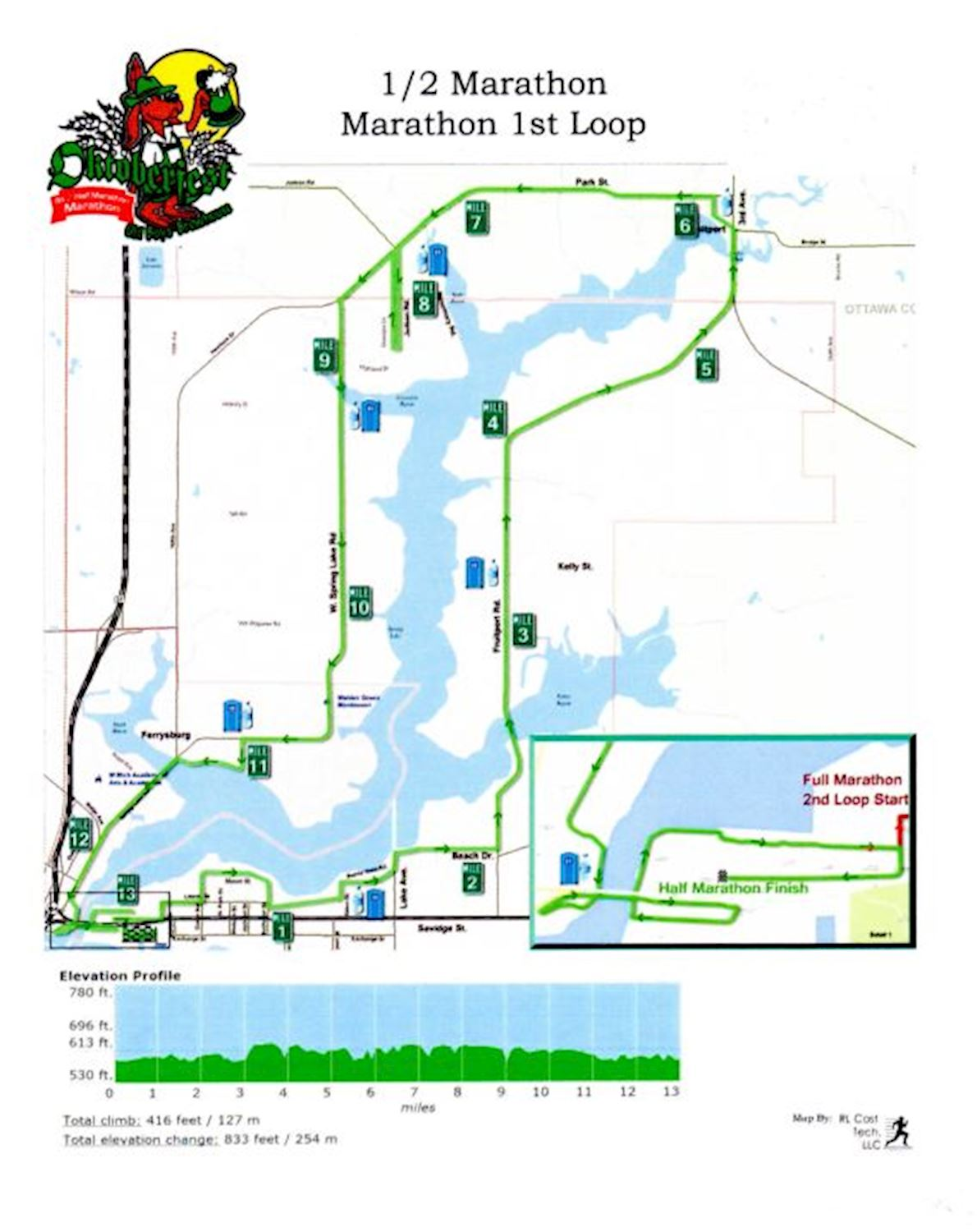 Oktoberfest Marathon Route Map
