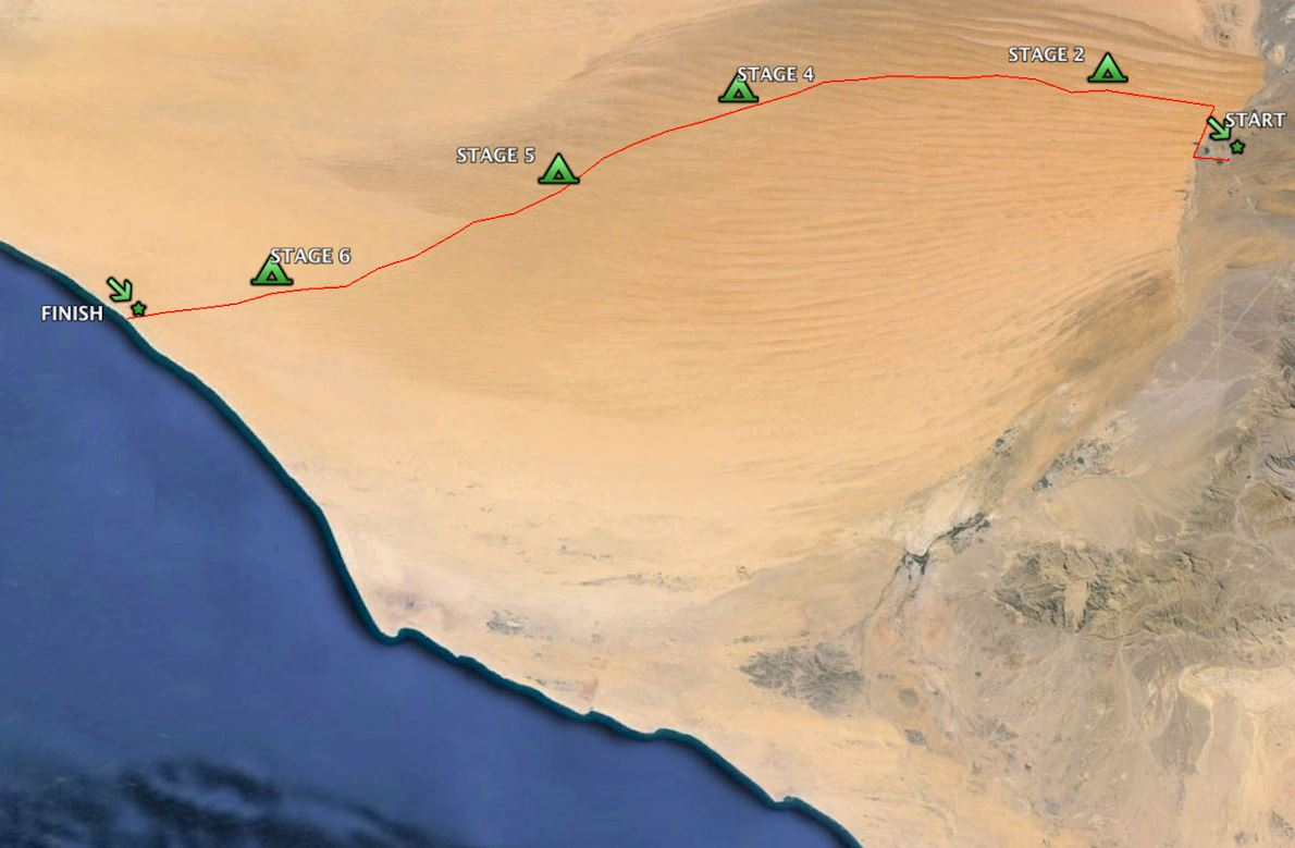 Oman Desert Marathon Route Map
