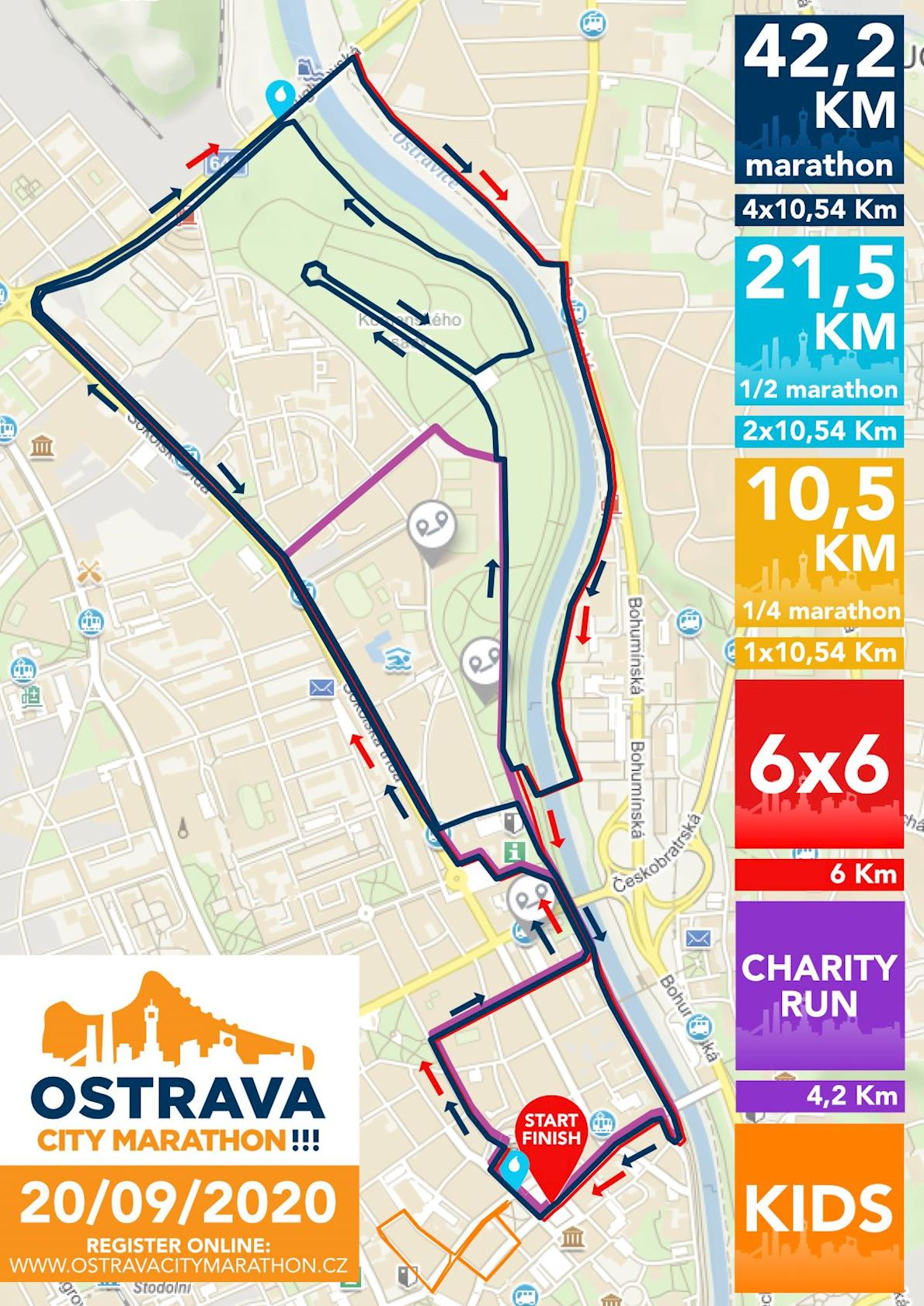 Ostrava City Marathon!!! Route Map