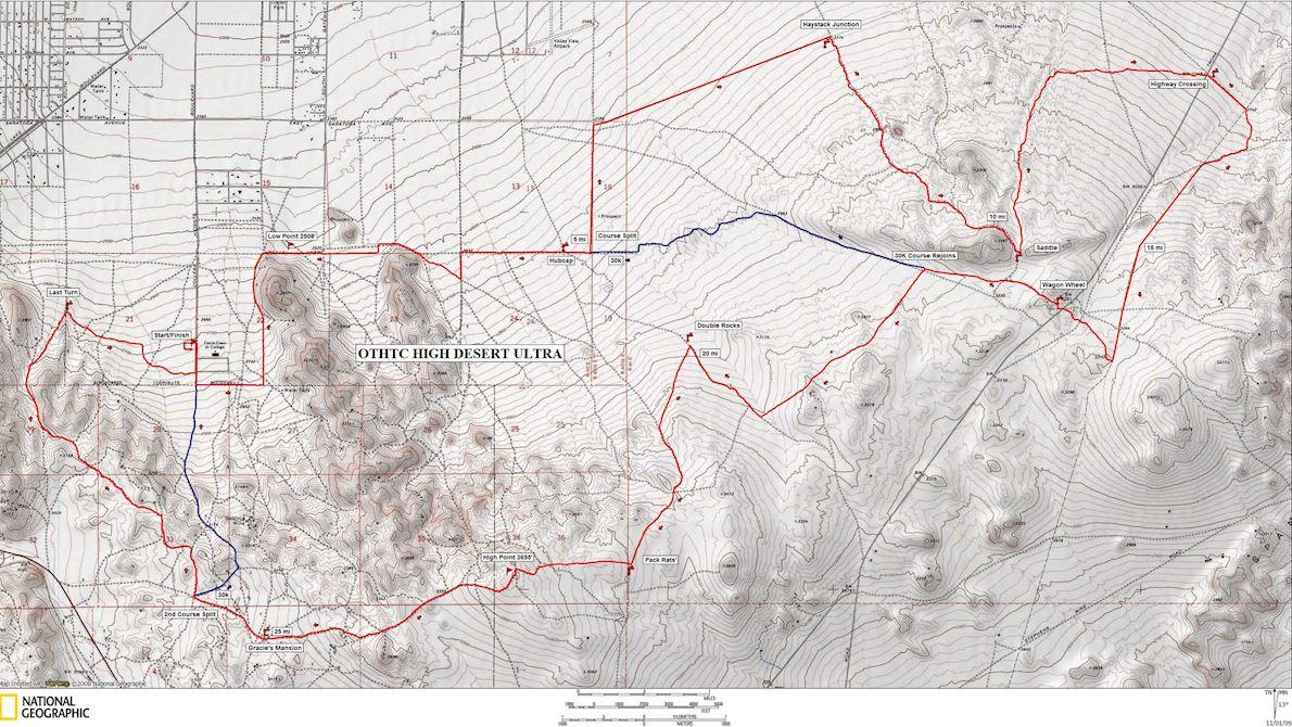 High Desert 50K Routenkarte