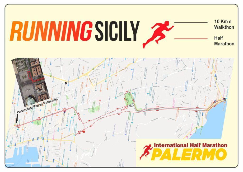 Palermo International Half Marathon & 10K Routenkarte