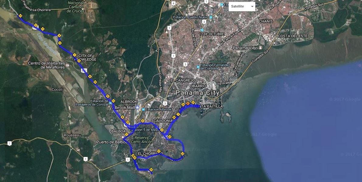 Panama City International Marathon Route Map